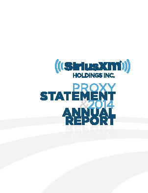 Sirius XM Holdings Inc. annual report 2014