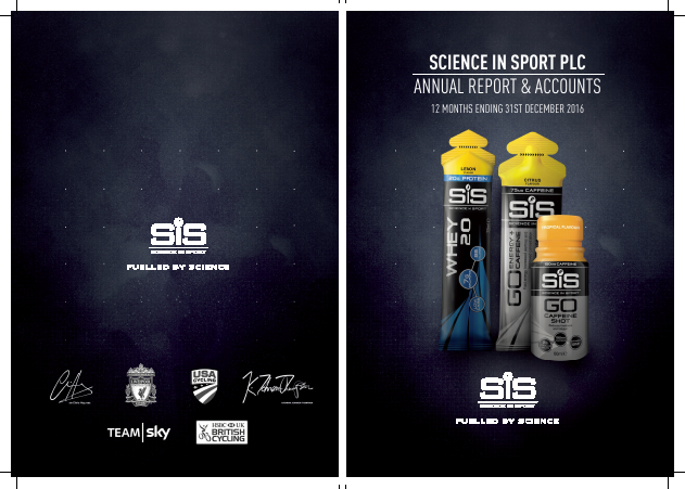 Science In Sport annual report 2016