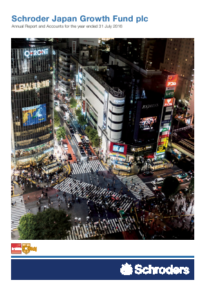 Schroder Japan Growth Fund annual report 2016