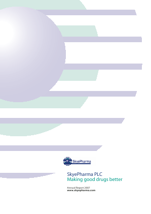 Skyepharma annual report 2007