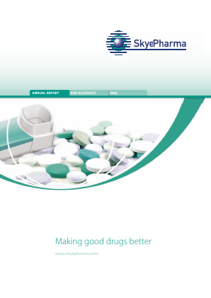 Skyepharma annual report 2008