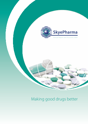 Skyepharma annual report 2009