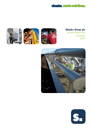 Renewi (Merger of Shanks Group and Van Gansewinkel) annual report 2007