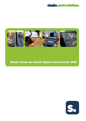 Renewi (Merger of Shanks Group and Van Gansewinkel) annual report 2008
