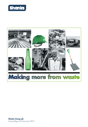 Renewi (Merger of Shanks Group and Van Gansewinkel) annual report 2013