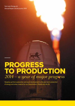 San Leon Energy Plc annual report 2014