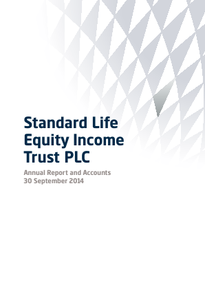 Standard Life Equity Income Trust annual report 2014