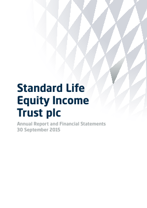 Standard Life Equity Income Trust annual report 2015