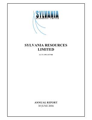 Sylvania Platinum annual report 2004