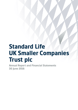 Standard Life UK Smaller Co Trust annual report 2016