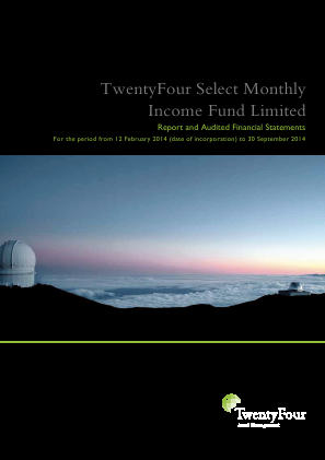 Twentyfour Select Monthly Inc Fd annual report 2014