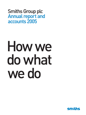 Smiths Group annual report 2005