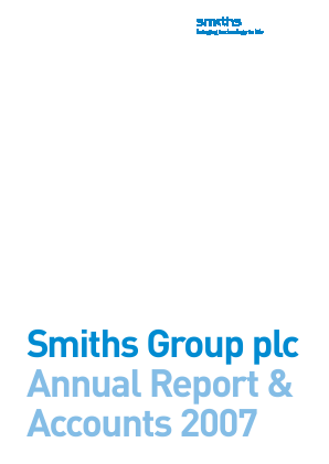 Smiths Group annual report 2007