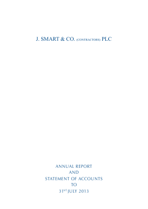 Smart(J) & Co annual report 2013