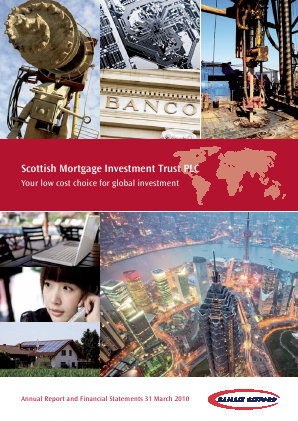 Scottish Mortgage Investment Trust annual report 2010