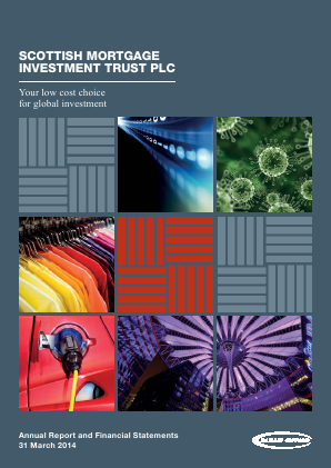 Scottish Mortgage Investment Trust annual report 2014