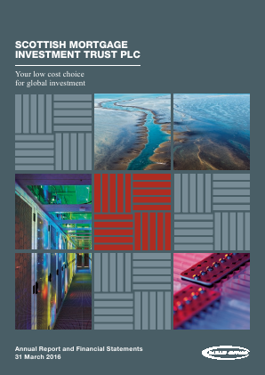 Scottish Mortgage Investment Trust annual report 2016