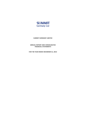 Summit Germany annual report 2013