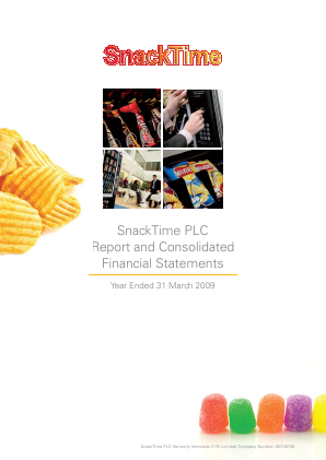 Uvenco (Previously Snacktime Plc) annual report 2009