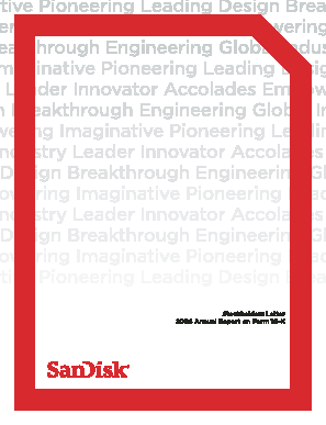 SanDisk Corporation (acquired by Western Digital Corporation (NASDAQ: WDC) ) annual report 2008