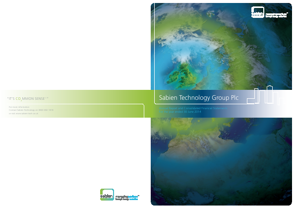 Sabien Technology Group Plc annual report 2014