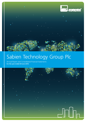 Sabien Technology Group Plc annual report 2016