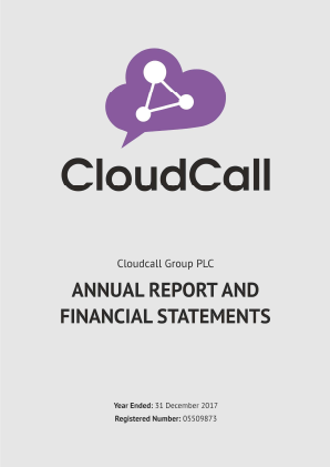 CloudCall Group (previously Synety Group) annual report 2017