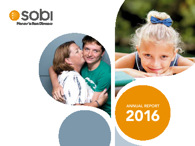 Swedish Orphaniovitrum annual report 2016