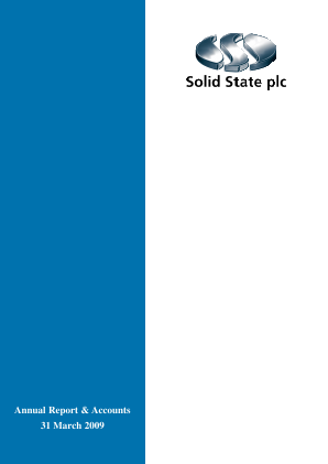 Solid State Plc annual report 2009