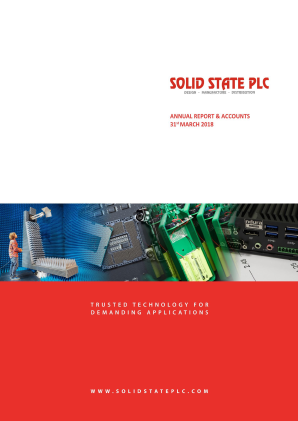 Solid State Plc annual report 2018