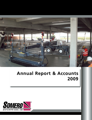 Somero Enterprise Inc annual report 2009