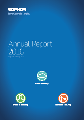 Sophos Group Plc annual report 2016