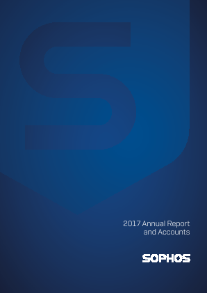 Sophos Group Plc annual report 2017