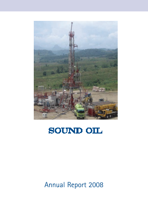 Sound Energy Plc annual report 2008
