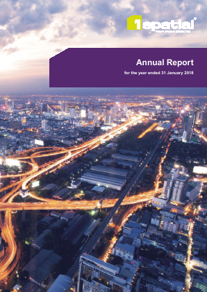 1Spatial Plc annual report 2018