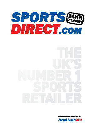 Sports Direct International Plc annual report 2010