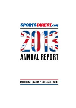 Sports Direct International Plc annual report 2013