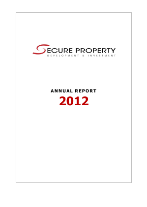 Secure Property Dev & Inv Plc annual report 2012