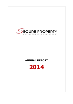 Secure Property Dev & Inv Plc annual report 2014