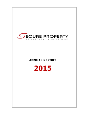 Secure Property Dev & Inv Plc annual report 2015