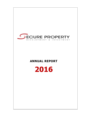 Secure Property Dev & Inv Plc annual report 2016