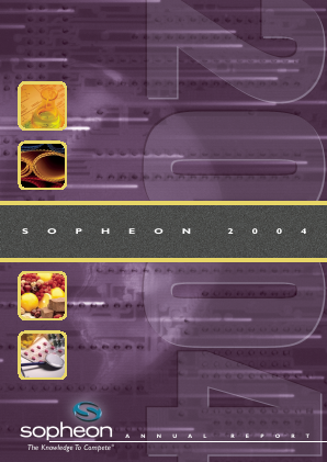 Sopheon annual report 2004