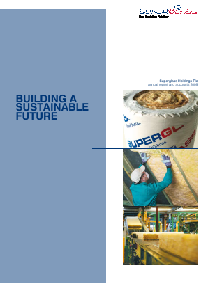 Superglass Holdings Plc annual report 2009
