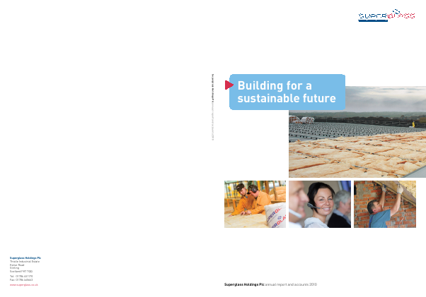 Superglass Holdings Plc annual report 2010