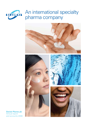 Sinclair Pharma Plc annual report 2008