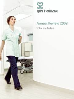 Spire Healthcare Group Plc annual report 2008