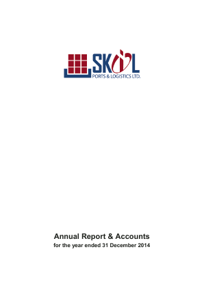 Mercantile Ports & Logistics (Previously Skil Ports & Logistics) annual report 2014
