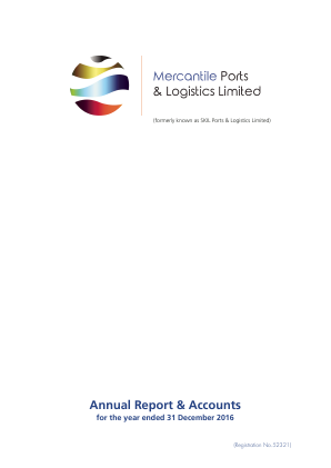 Mercantile Ports & Logistics (Previously Skil Ports & Logistics) annual report 2016