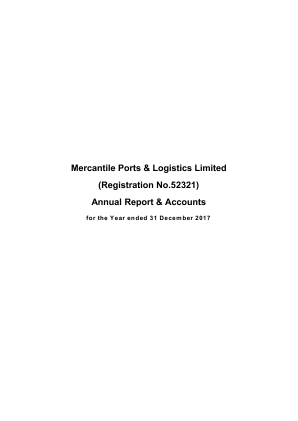 Mercantile Ports & Logistics (Previously Skil Ports & Logistics) annual report 2017