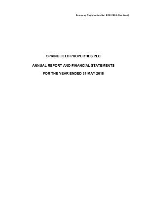Springfield Properties annual report 2018